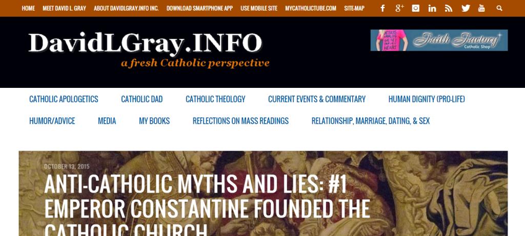 DavidLGray.INFO Inc. – Columbus, Ohio – Religious: Catholic Evangelization and Blog