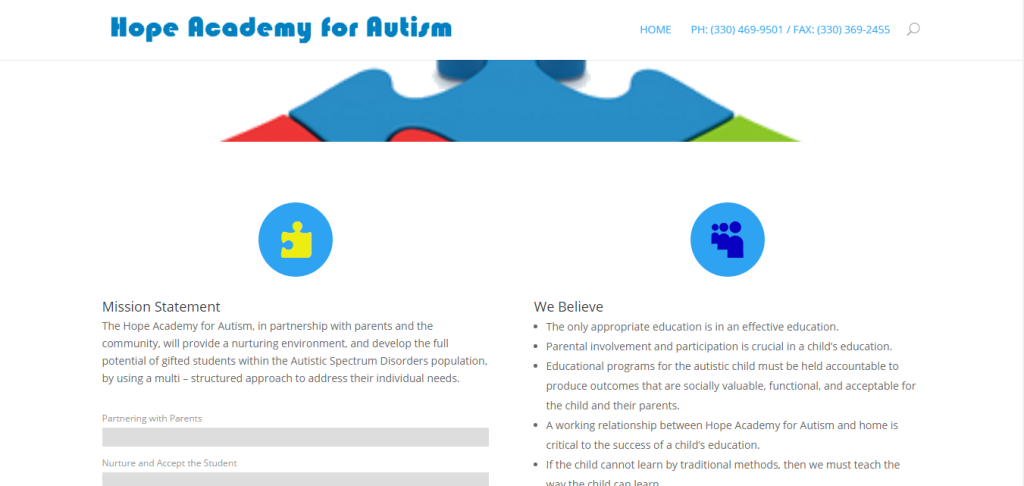 Hope Academy for Autism – Warren, Ohio – Education: School for autism